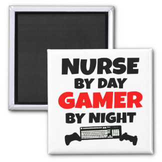 Nurse by Day Gamer by Night Magnet