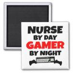 Nurse by Day Gamer by Night Refrigerator Magnet