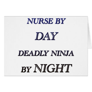NURSE BY DAY GREETING CARD