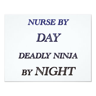NURSE BY DAY 4.25X5.5 PAPER INVITATION CARD