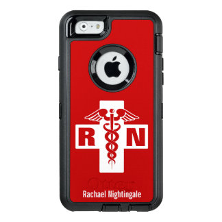 Nurse Caduceus Initials Name Template OtterBox iPhone 6/6s Case
