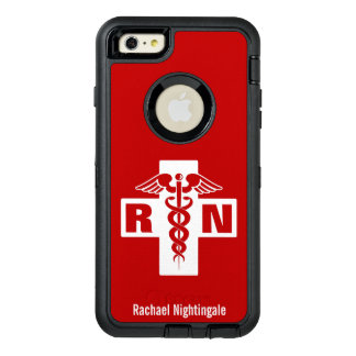 Nurse Caduceus Initials Name Template OtterBox iPhone 6/6s Plus Case