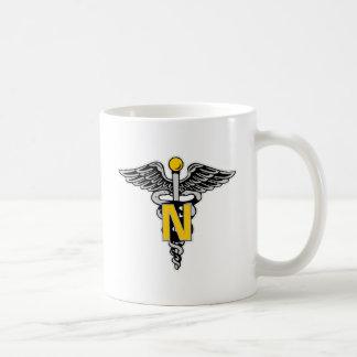 Nurse Caduceus Classic White Coffee Mug