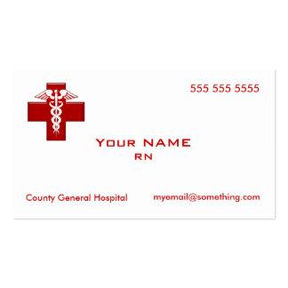 Nurse Caduceus Pack Of Standard Business Cards