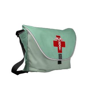 Nurse Caduceus Scrubs Green Commuter Bags