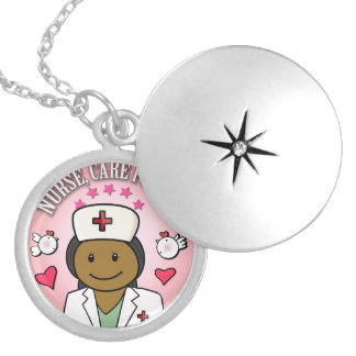 Nurse Care For Me Gifts Round Locket Necklace