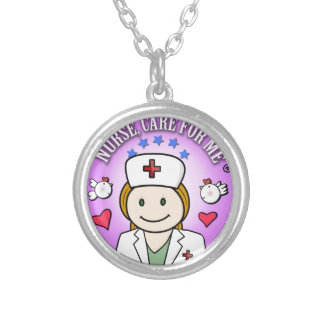 Nurse Care For Me Ginger Round Pendant Necklace