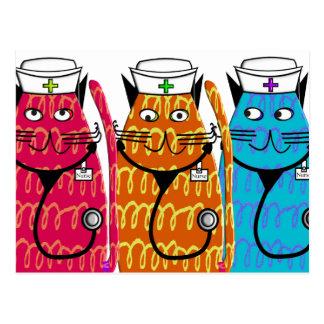 Nurse Cats Postcard