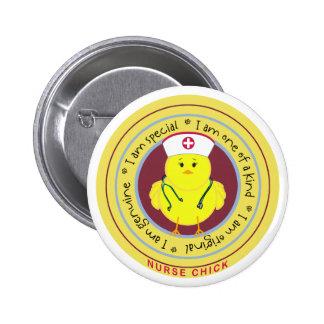 Nurse Chick Pinback Button