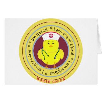 Nurse Chick Greeting Cards