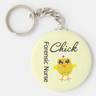 Nurse Chick v1 Forensic Nurse Key Chains