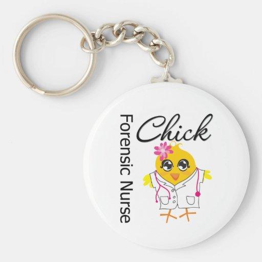 Nurse Chick v2 Forensic Nurse Keychain