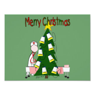"Nurse Christmas Design ""Merry Christmas"" Card"