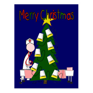 "Nurse Christmas Design ""Merry Christmas"" Postcard"