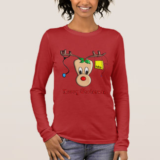 Nurse Christmas Reindeer Gifts Long Sleeve T-Shirt