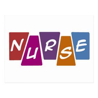 Nurse - Colorful Postcard