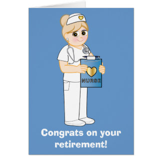 Nurse: Congratulations on Your Retirement Card