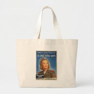 Nurse Corp World War II Jumbo Tote Bag