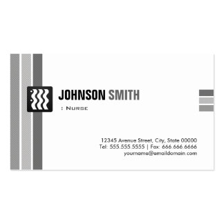Nurse - Creative Black White Pack Of Standard Business Cards
