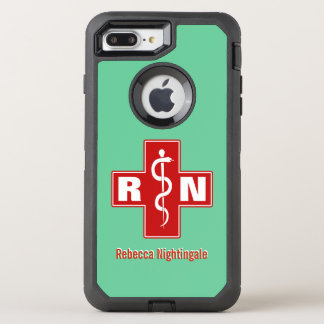 Nurse Cross Initials Name Template OtterBox Defender iPhone 7 Plus Case