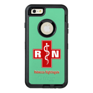Nurse Cross Initials Name Template OtterBox iPhone 6/6s Plus Case