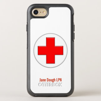 Nurse Cross Name Template OtterBox Symmetry iPhone 7 Case