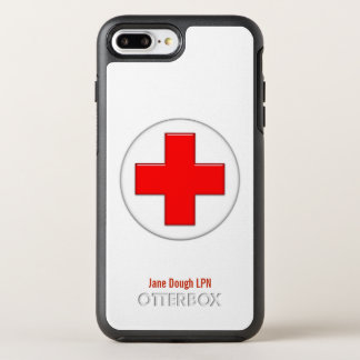 Nurse Cross Name Template OtterBox Symmetry iPhone 7 Plus Case