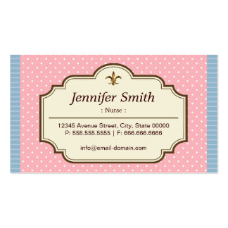 Nurse - Cute Polka Dots Pack Of Standard Business Cards