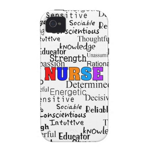 Nurse Describing Words Gifts iPhone 4 Covers