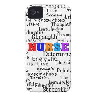 Nurse Describing Words Gifts Case-Mate iPhone 4 Case
