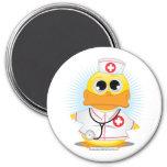 Nurse Duck 7.5 Cm Round Magnet