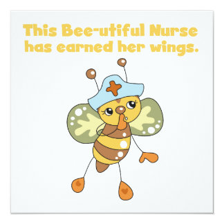 Nurse Earned Her Wings T-shirts and Gifts Personalized Invitation