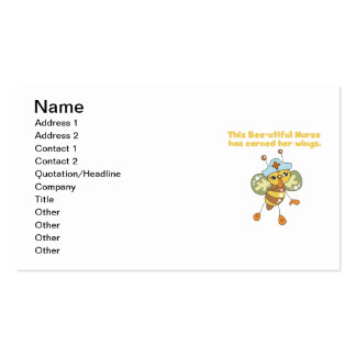 Nurse Earned Her Wings T-shirts and Gifts Pack Of Standard Business Cards