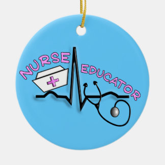 Nurse Educator QRS Design Christmas Ornament