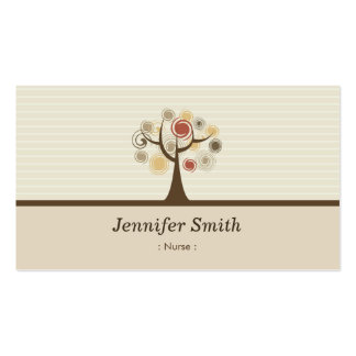 Nurse - Elegant Natural Theme Pack Of Standard Business Cards