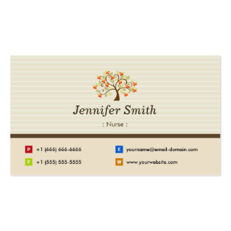 Nurse - Elegant Tree Symbol Pack Of Standard Business Cards