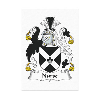 Nurse Family Crest Stretched Canvas Print