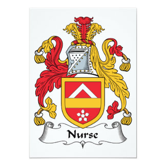 Nurse Family Crest Personalized Invite