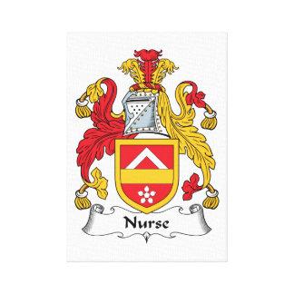 Nurse Family Crest Stretched Canvas Print