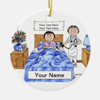Nurse - Female, Adult Female Patient Christmas Ornament
