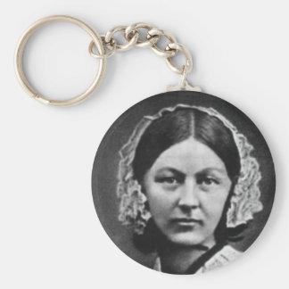 Nurse Florence Nightingale Basic Round Button Key Ring