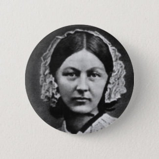 Nurse Florence Nightingale Portrait 6 Cm Round Badge