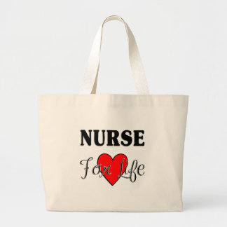 Nurse For Life Large Tote Bag