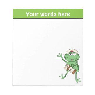 Nurse Frog add words notepad