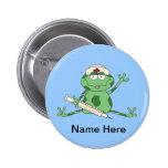 Nurse Frog Button