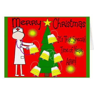 Nurse Funny and Twisted Christmas Humor Greeting Card