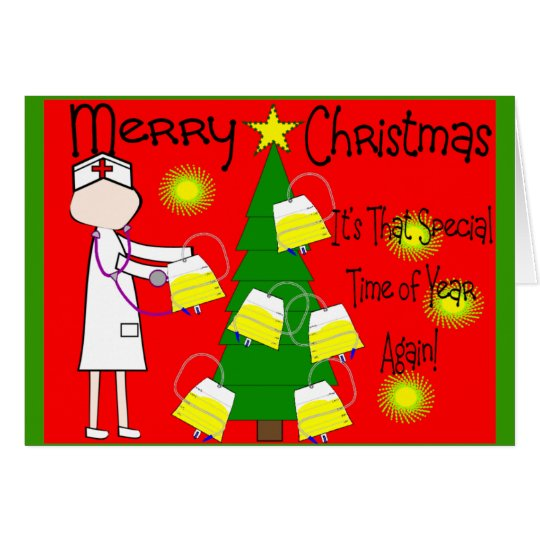 Nurse Funny and Twisted Christmas Humour Greeting Card