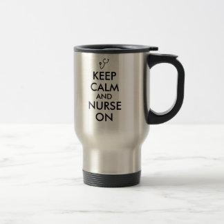 Nurse Gift Stethoscope Keep Calm and Nurse On Mugs