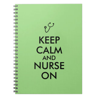 Nurse Gift Stethoscope Keep Calm and Nurse On Notebook