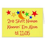 "Nurse Gifts ""2nd Shift Nurse""  Hilarious Greeting Cards"